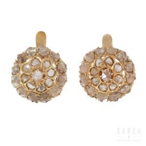 A pair of diamond earrings, 20th century