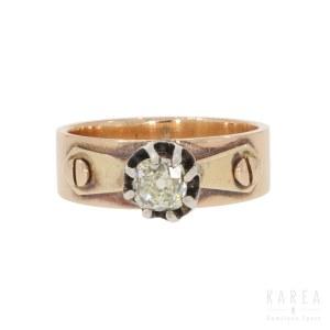 Pierścionek z diamantem, XIX/XX w.