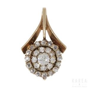 A floral pendant