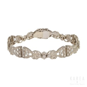 An Art Déco style diamond bracelet, 20th century