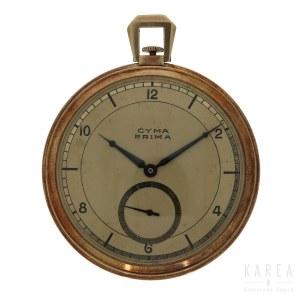 An Art Déco slim line pocket watch