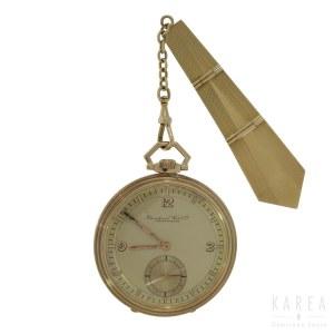 An Art Déco pocket watch with a fob