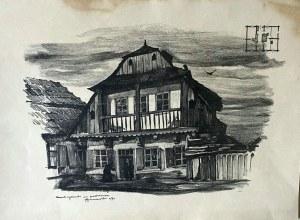 Jan Kanty GUMOWSKI (1883-1946), Dom żydowski na podzamczu, 1917