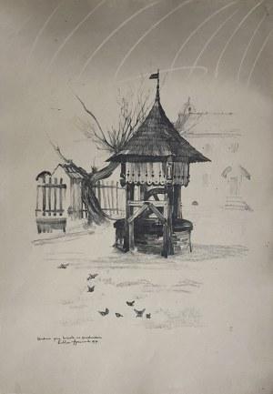 Jan Kanty GUMOWSKI (1883-1946), Studnia przy kościele na przedmieściu, 1917