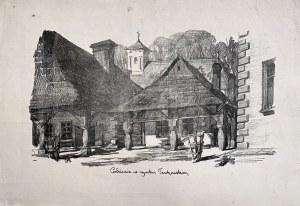 Jan Kanty GUMOWSKI (1883-1946), Podcienia na rynku tuchowskim