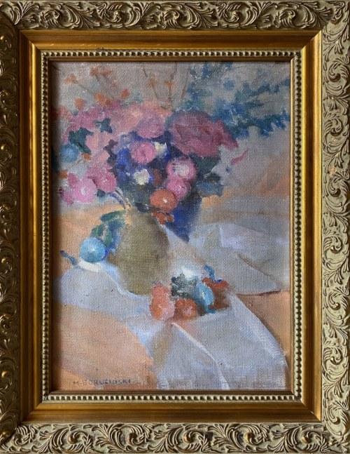 Michał BORUCIŃSKI (1885 -1976), Bukiet kwiatów w wazonie
