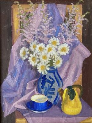 Zofia LEŚNIAK (1903-1976), Martwa natura z kwiatami i dzbankiem