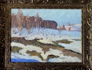 Andrianowicz Borys PRIEZŻEW (1920-?), Pejzaż zimowy