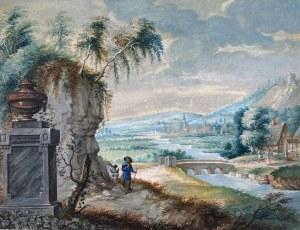 MALARZ NIEROZPOZNANY, Scena nad rzeką