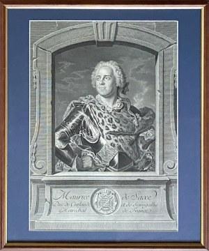 Jean Georges WILLE (1715-1808), Hrabia Maurycy Saski