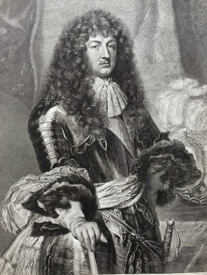 Nicolas PITAU (1632–1671) wg Claude Lefèbvre (1632–1675), Luis XIV (król Ludwik XIV)