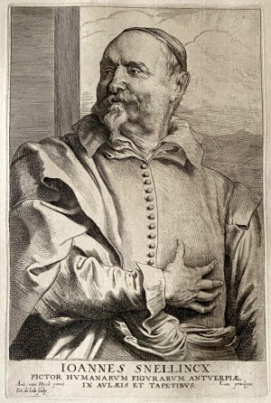 Pieter de JODE II (1606-1670) wg Anthony van Dyck (1599-1641), Ioannes Snellincx (malarz flamandzki)