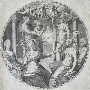 Francesco VILLAMENA (1565-1624), Minerwa i Cnoty