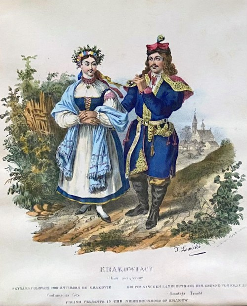 Jan LEWICKI (1795-1871), Krakowiacy - ubiór świąteczny