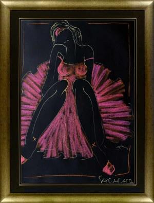 Joanna Sarapata, Ballerina w różowym kostiumie, 2021