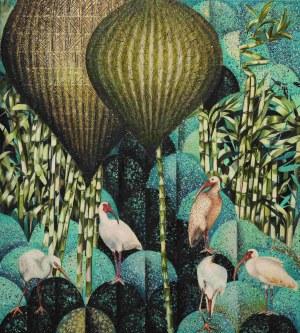 Katarzyna Stelmach, Kompozycja z ibisami, 2021