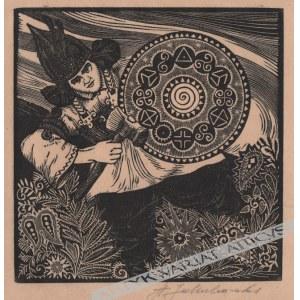 Stanisław Jakubowski (1885-1964) - [zestaw czterech sygnowanych drzeworytów z cyklu Bogowie Słowian]