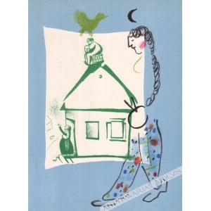 Marc Chagall (1887-1985) - [Grafika, 1960] La Maison De Mon Village [Nasz Dom W Mojej Wiosce]