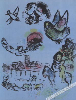 Marc Chagall (1887-1985) - [grafika, 1963] Nocturne At Vence