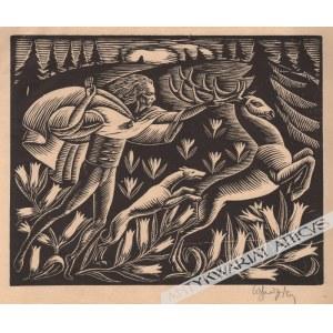 Władysław Skoczylas (1883-1934) - [grafika, 1921 r.] Łowy