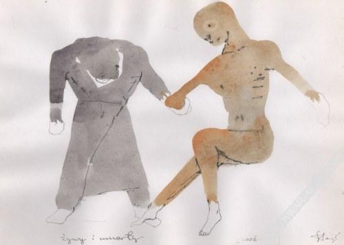 Stasys Eidrigevičius (Ur. 1949) - [rysunek, 2006] Żywy I Umarły