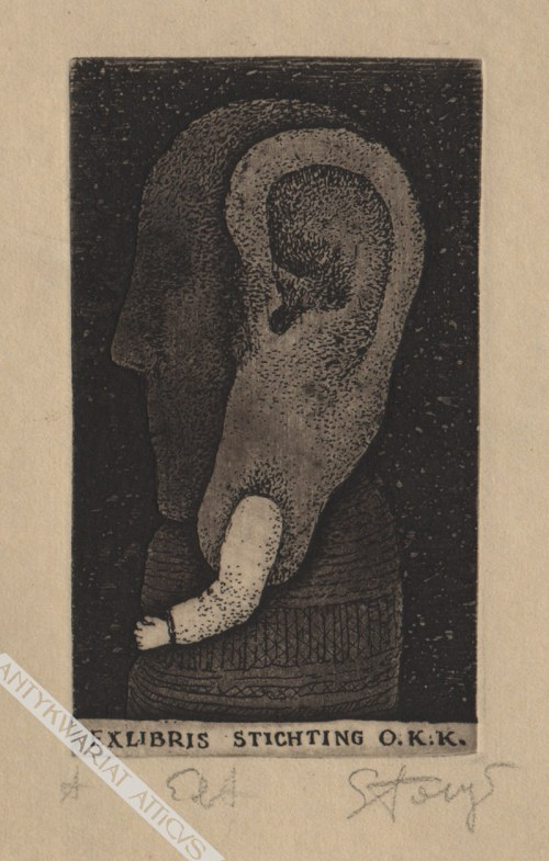 Stasys Eidrigevičius (Ur. 1949) - [grafika, 1980] Exlibris Stichting O.K.K.