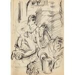 Antoni Uniechowski (1903-1976) - [rysunek, ok. 1950-60] [Scenka Erotyczna]