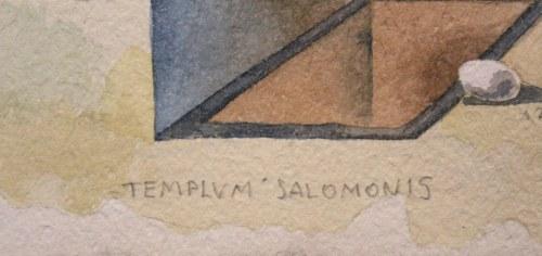 Henryk Waniek (Ur. 1942) - [rysunek, 1990] Templum Salomonis