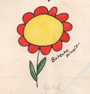 Bohdan Butenko (1931-2019) - [rysunek, lata 1980-te] Zmartwiony Wąż