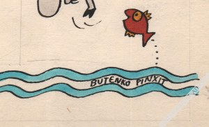 Bohdan Butenko (1931-2019) - [rysunek, lata 1980-te] Dwie Kozy