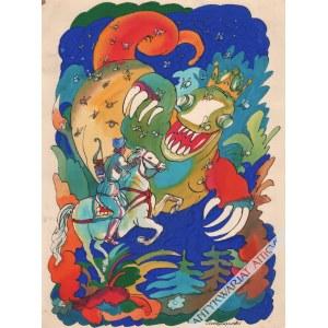 Antoni Chodorowski (1946-1999) - [rysunek, ok. 1980] Smok