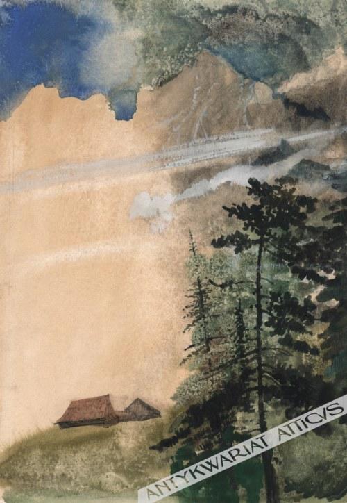 Bożena Truchanowska (Ur. 1929) - [Rysunek, Lata 1970-Te] [Pejzaż Górski]