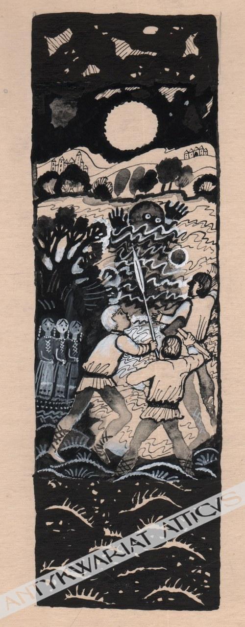 Bożena Truchanowska (ur. 1929) - [rysunek, lata 1970-te] [Upiór]