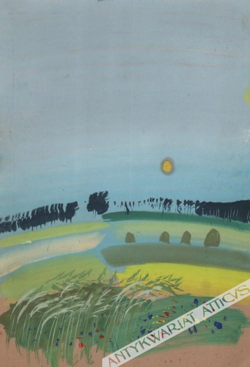 Józef Wilkoń (ur. 1930) - [rysunek, 1982] [Krajobraz]
