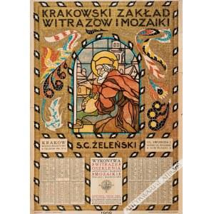 Jan Bukowski (1873-1943) - [Plakat, 1909] Krakowski Zakład Witraży S. G. Żeleński