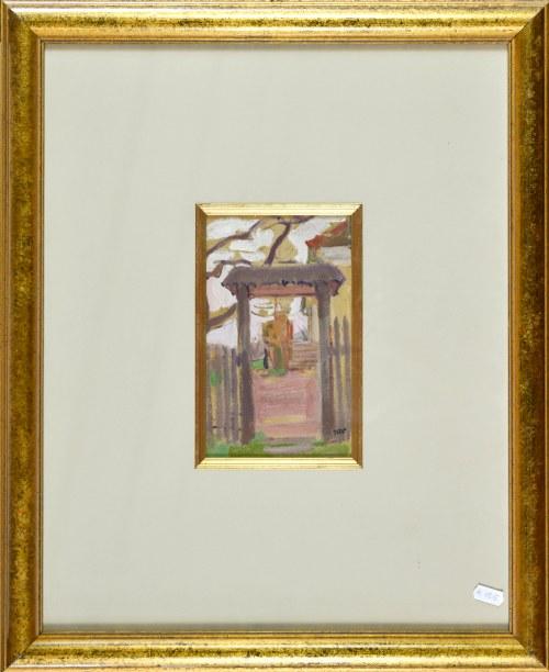 Wojciech WEISS (1875-1950), Wejście do ogrodu