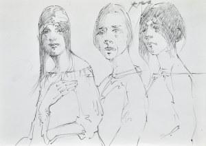 Roman BANASZEWSKI (1932-2021), Szkice trzech kobiet