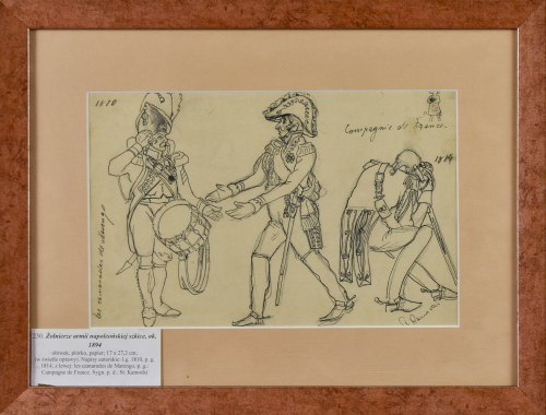 Stanisław KAMOCKI (1875-1944), Zołnierze armii napoleońskiej, szkice, ok..1894
