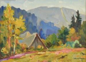 Michał KWAŚNY (1919-1997), Pejzaż górski, 1973