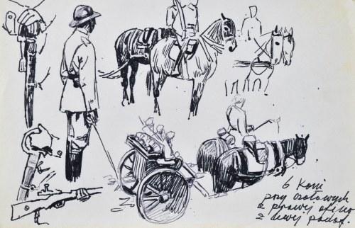 Ludwik MACIĄG (1920-2007), Szkice rodzajowe z udziałem żołnierzy