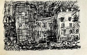 Marian MALINA(1922 - 1985), Scena miejska