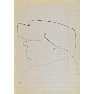 Jerzy PANEK (1918-2001), Głowa mężczyzny w czapce - autoportret II, 1963