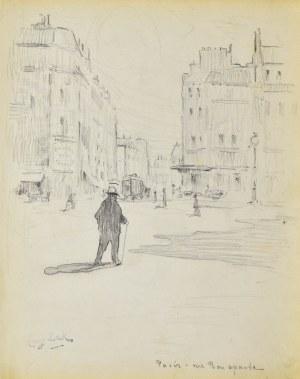 Eugeniusz ZAK (1887-1926), Paryż - Widok na ulicę Bonaparte z placu Saint - Germain - des - Pres