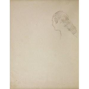 Jacek MALCZEWSKI (1854-1929), Głowa młodej kobiety z lewego profilu, VIII.1925