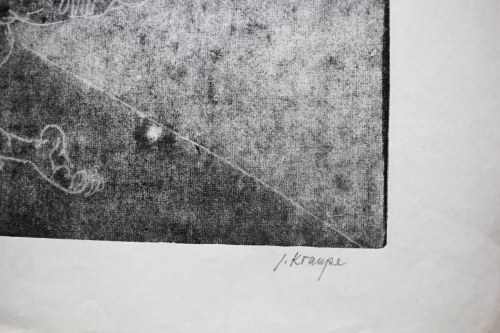 KRAUPE-ŚWIDERSKA JANINA, Walka Jakuba z aniołem, 1955