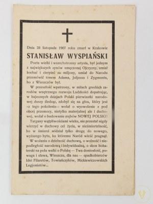 [Wyspiański] Nekrolog Stanisława Wyspiańskiego