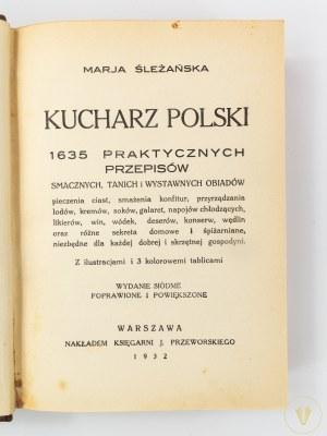 [Półskórek] Śleżańska Marja, Kucharz polski 1635 praktycznych przepisów smacznych, tanich...