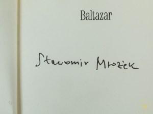 [Autograf] Mrożek Sławomir Baltazar [wydanie I]