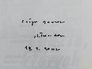 Ludzie, których spotkałem [Autograf ks. Jana Twardowskiego]