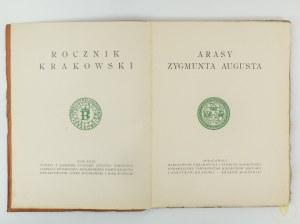 [Rocznik Krakowski Tom XXIX] Gębarowicz Mieczysław, Mańkowski Tadeusz, Arasy Zygmunta Augusta